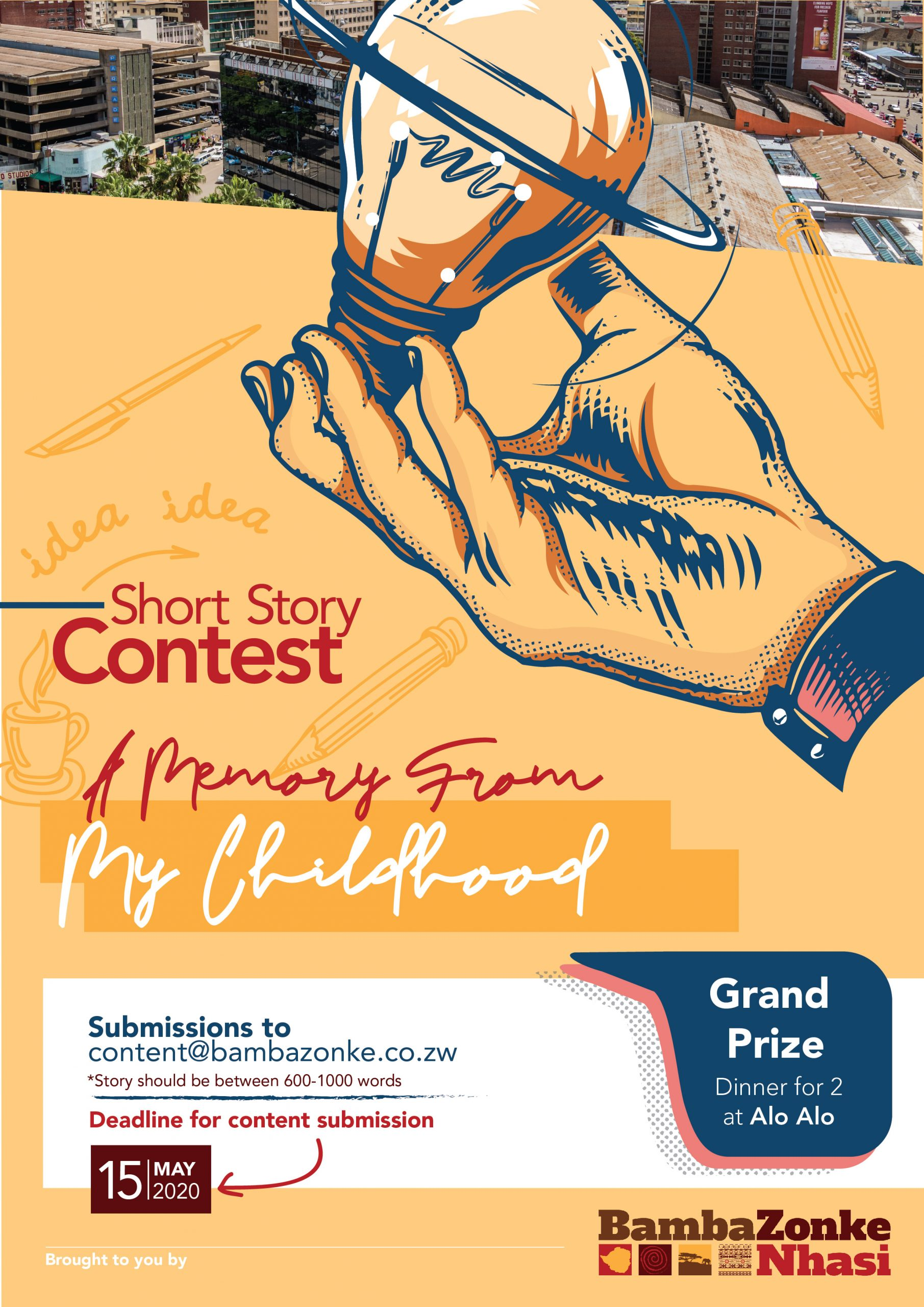 Short Story Contest Poster With Prize